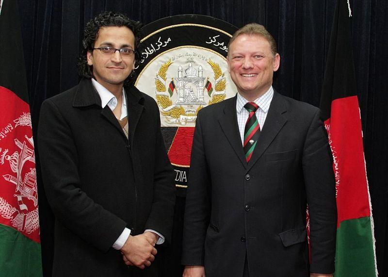 File:Mohammad Shafiq Hamdam and NATO Spokesman.JPG