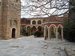 Monastery of Daou Pentelis inside view.jpg