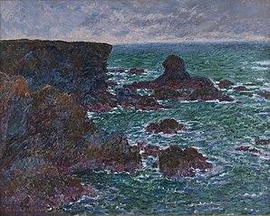 Lion Rock, Rocks at Belle-Île, Des Moines Art Center