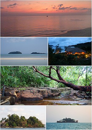 Montage of islands of Sihanoukville