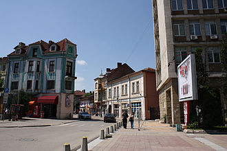 Montana, Bulgaria - Street in Montana center