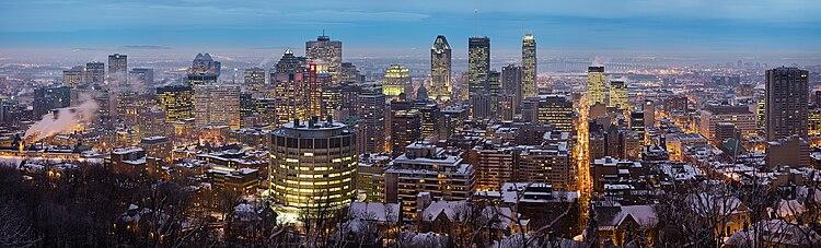 Blick auf Downtown Montreal vom Mont-Royal aus.