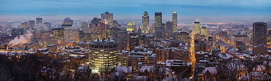 Montreal skyline at twilight