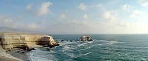 Coastal Cliff of northern Chile - The coastal cliff at La Portada near Antofagasta.