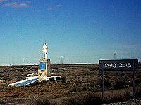 Monumento cerca de Jaramillo sobre la Ruta 3.