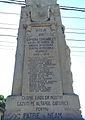 Monumentul Eroilor căzuţi în primul război mondial din Tâncăbești - detalii fațadă.JPG