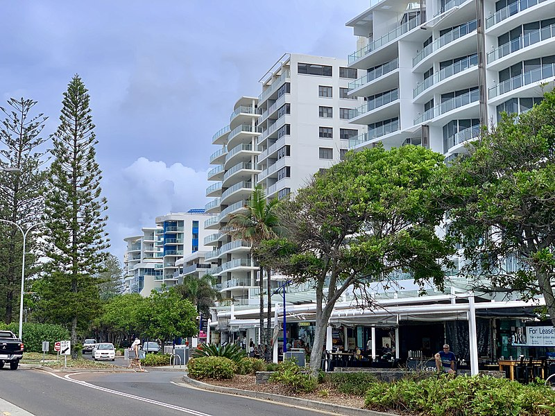 File:Mooloolaba Esplanade at Mooloolaba, Queensland.jpg