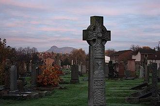 Morningside Cemetery, Edinburgh - Morningside Cemetery looking east to Arthur's Seat