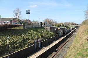Mossley West railway station - Image: Mossley West (1)
