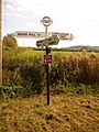 Motcombe, North End Cross signpost - geograph.org.uk - 1508612.jpg