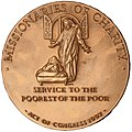 Mother Teresa Congressional Gold Medal (reverse).jpg