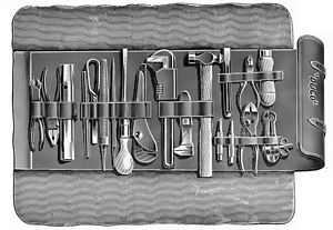 Motorists tool kit roll of 1912