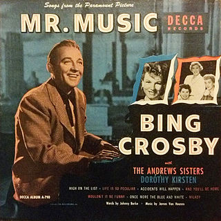 <i>Songs from Mr. Music</i> album by Bing Crosby