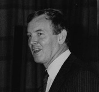 Secretary of State for Work and Pensions - Image: Mr John Moore M.P. addressing the Annual LSE Society Dinner, 5th June, 1985