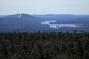 Stratton Mountain (Vermont) - Image: Mt. Snow Ski Area and Somerset Lake seen from Stratton Mountain