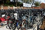Am Hauptbahnhof abgestellte Fahrräder
