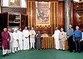 Munisamy Thambidurai, the Union Minister for Urban Development, Housing and Urban Poverty Alleviation and Parliamentary Affairs, Shri M. Venkaiah Naidu.jpg
