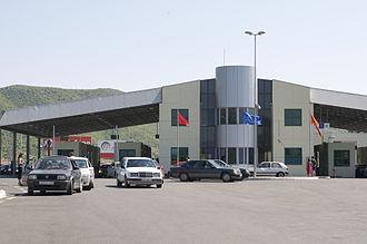 Border crossings of Albania - Muriqan-Sukobin integrated crossing between Albania and Montenegro