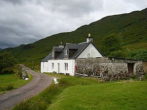Murlaggan Cottage Murlaggan Cottage, home to L...