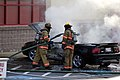 Mustang car fire at CVS on Key West Highway in North Potomac MD July 12 2012 (7575611516).jpg