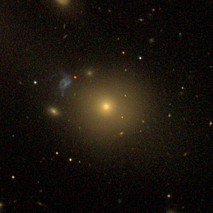 SDSS image of NGC 541 with nearby fragments (e.g. Minkowski's object)
