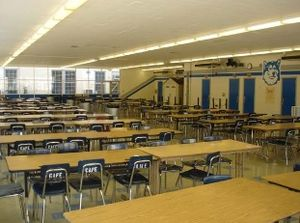 North Hollywood High School - The student cafeteria.