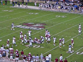 New Mexico State Aggies - One of many football games played in Aggie Memorial Stadium
