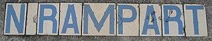 Rampart Street - North Rampart Street tiles, Marigny neighborhood