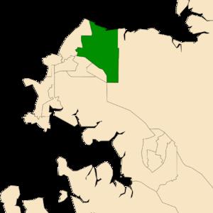 Electoral division of Wanguri - Location of Wanguri in the Darwin/Palmerston area