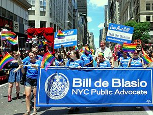 Bill de Blasio - NYC Pride in 2012