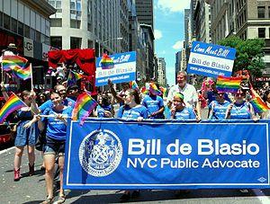 Bill de Blasio - NYC Pride in 2012