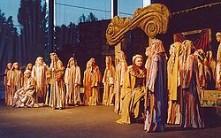 Performance by the Silesian Opera on the open-air stage Eberswalde in August 2004