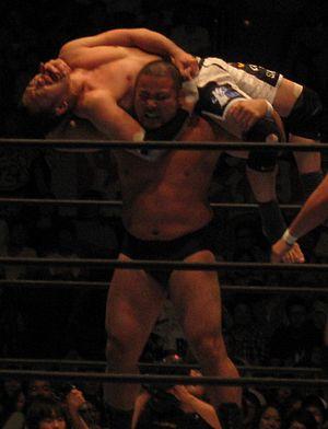 Manabu Nakanishi - Nakanishi holding Kazushi Sakuraba in an Argentine backbreaker rack