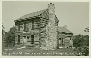 Nancy Lincoln - Early Home of Nancy Hanks Lincoln  Springfield, Kentucky