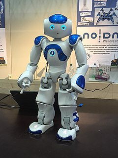 Nao (robot) small humanoid robot developed by the French company Aldebaran Robotics