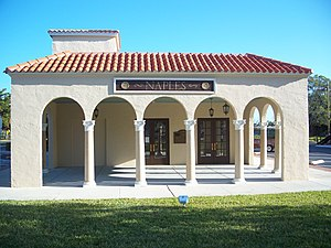 Seaboard-All Florida Railway - Former Naples depot, which is nearly identical to the Hialeah depot