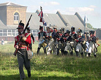 Napoleonic battle reenactment at Waltham Abbey Royal Gunpowder Mills.jpg
