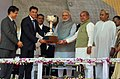 Narendra Modi at the dedication ceremony of the Rourkela Steel Plant to the Nation, in Odisha. The Governor of Odisha, Shri S.C. Jamir, the Chief Minister of Odisha, Shri Naveen Patnaik (3).jpg