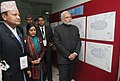 Narendra Modi visiting the National Trauma Centre, at the official handover and inaugural ceremony of the National Trauma Centre, in Kathmandu, Nepal. The Union Minister for External Affairs and Overseas Indian Affairs.jpg