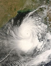 A photograph of the cyclone