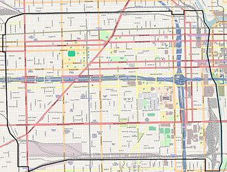 Near West Side, Chicago - Street map of Near West Side.