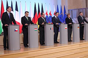 Foreign relations of Hungary - Meeting of Visegrád Group leaders, plus Germany and France in 2013