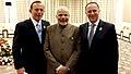 Neighbors across the ocean the Prime Minister, Shri Narendra Modi with the Prime Minister of New Zealand, Mr. John Key and the Prime Minister of Australia, Mr. Tony Abbott, at the East Asia Summit, in Nay Pyi Taw, Myanmar.jpg