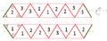 Netz eines Trihexaflexagon.png