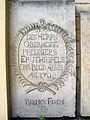 Neustädter Hof- und Stadtkirche St. Johannis in Hannover, aussen 05 David Ruprecht Erythropel (1653-1732) Erbbegräbnis des Oberhofprediger, Respice Finem, Bedenke das Ende.jpg