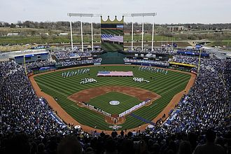 Kansas City Royals - Kauffman Stadium underwent renovations in 2009, including the addition of a high-definition scoreboard.