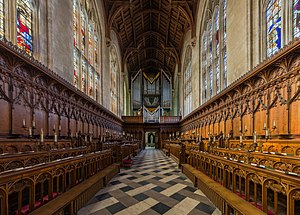 New College, Oxford - Looking back towards the entrance and organ