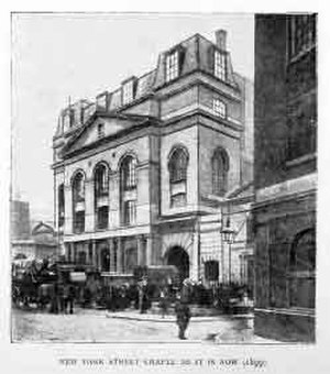 New Park Street Chapel - New Park Street Chapel after Spurgeon's expansion
