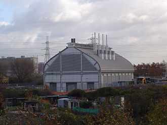 London sewerage system - The new Abbey Mills Pumping Station