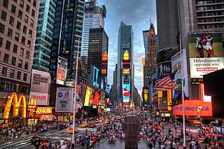 Times Square Neighborhood in Manhattan in New York City, New York
